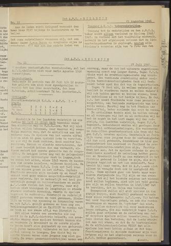 Bulletins (vnl. opstellingen) 1946-07-25