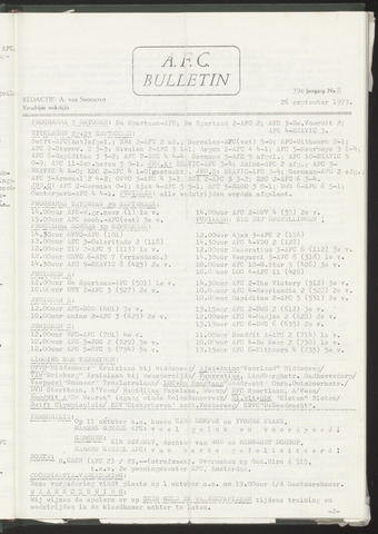 Bulletins (vnl. opstellingen) 1973-09-26