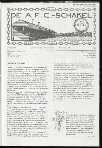 Schakels (clubbladen) 1984-12-05