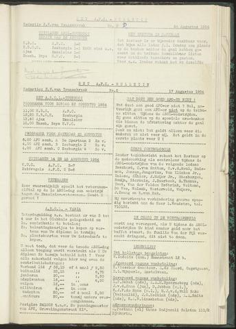 Bulletins (vnl. opstellingen) 1954-08-17