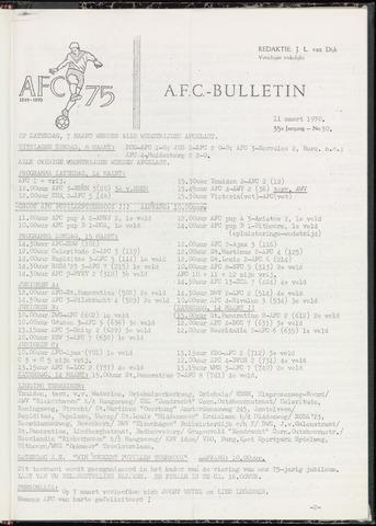 Bulletins (vnl. opstellingen) 1970-03-11
