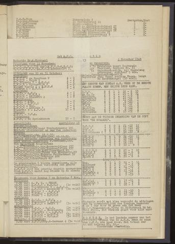 Bulletins (vnl. opstellingen) 1948-11-04