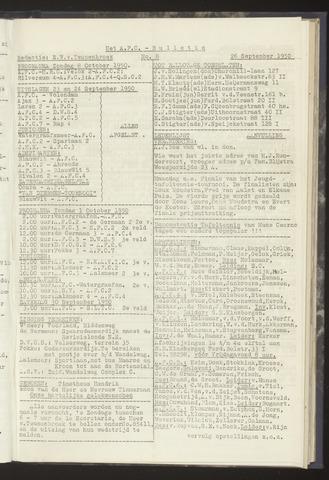 Bulletins (vnl. opstellingen) 1950-09-26