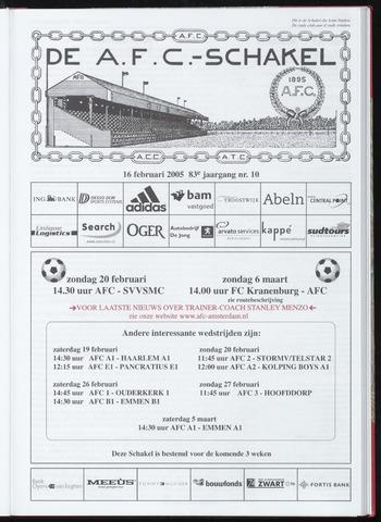 Schakels (clubbladen) 2005-02-16