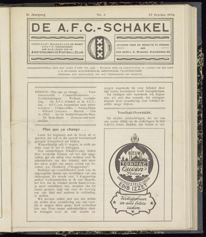 Schakels (clubbladen) 1926-10-22