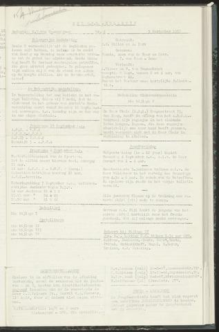 Bulletins (vnl. opstellingen) 1957-09-03