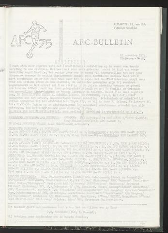 Bulletins (vnl. opstellingen) 1971-11-24