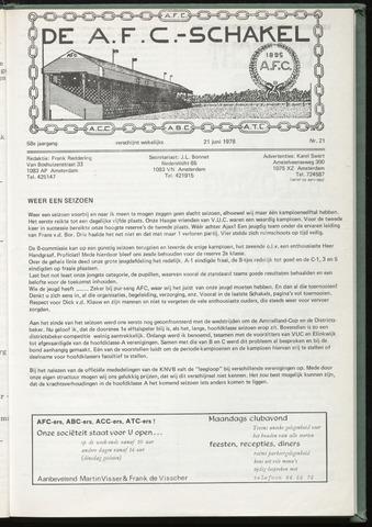 Schakels (clubbladen) 1978-06-21