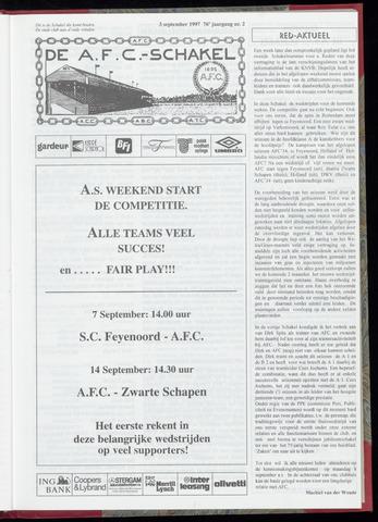 Schakels (clubbladen) 1997-09-03