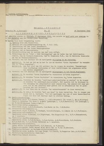 Bulletins (vnl. opstellingen) 1946-09-18