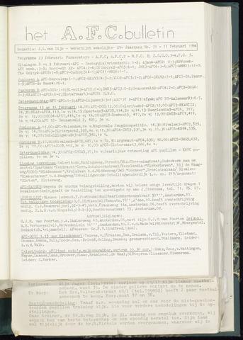Bulletins (vnl. opstellingen) 1964-02-05