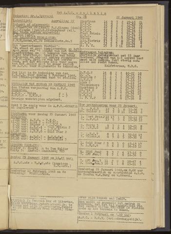 Bulletins (vnl. opstellingen) 1948-01-22