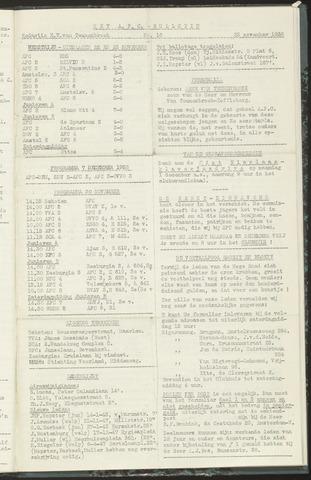 Bulletins (vnl. opstellingen) 1958-11-25