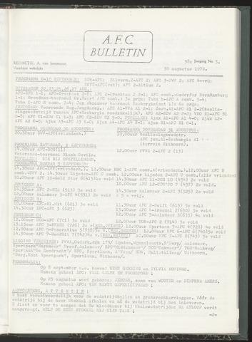 Bulletins (vnl. opstellingen) 1972-08-30