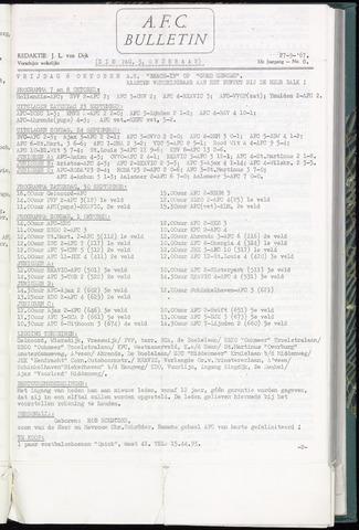 Bulletins (vnl. opstellingen) 1967-09-27