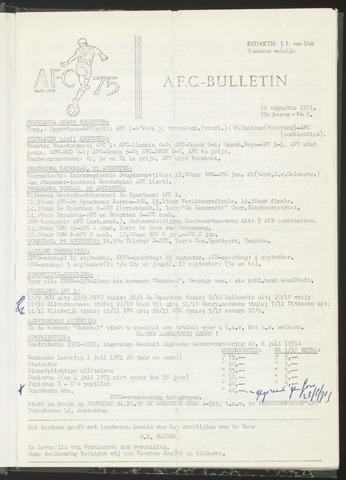 Bulletins (vnl. opstellingen) 1971-08-18