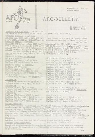 Bulletins (vnl. opstellingen) 1969-10-22