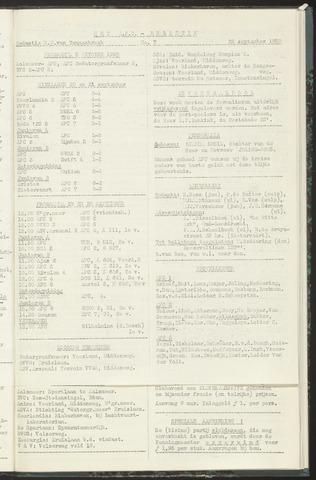 Bulletins (vnl. opstellingen) 1958-09-23