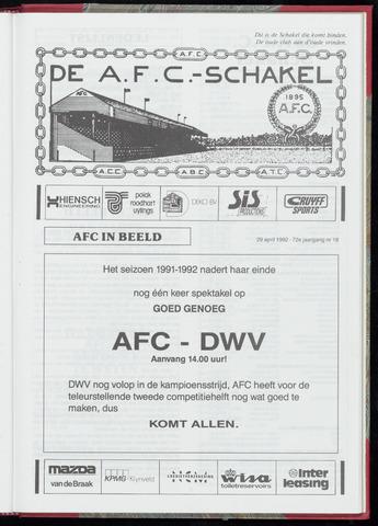 Schakels (clubbladen) 1992-04-29