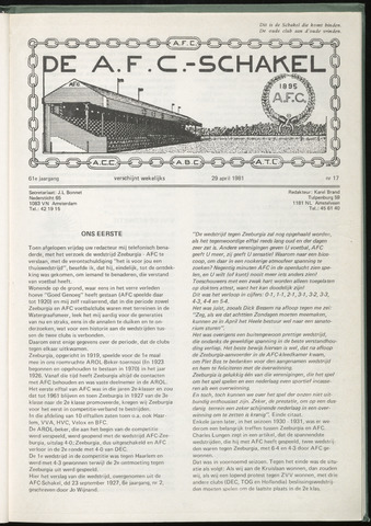 Schakels (clubbladen) 1981-04-29