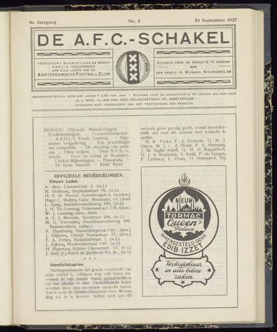 Schakels (clubbladen) 1927-09-23