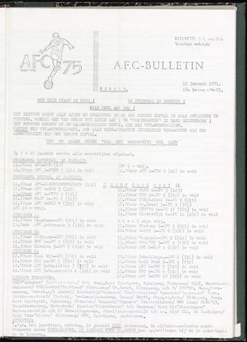 Bulletins (vnl. opstellingen) 1971-01-13