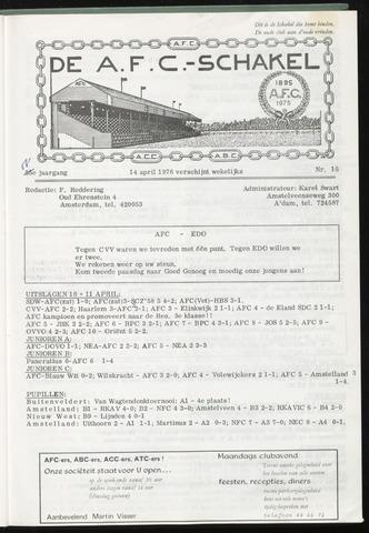 Schakels (clubbladen) 1976-04-14