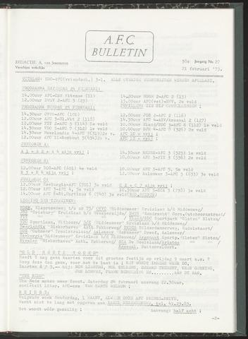 Bulletins (vnl. opstellingen) 1973-02-21