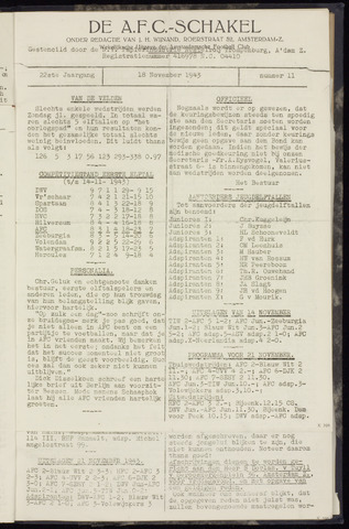 Schakels (clubbladen) 1943-11-18