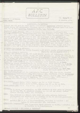 Bulletins (vnl. opstellingen) 1973-10-31