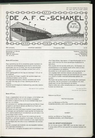 Schakels (clubbladen) 1980-08-13