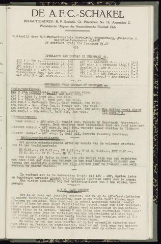 Schakels (clubbladen) 1943-02-25