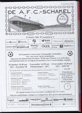 Schakels (clubbladen) 2006-10-25