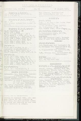 Bulletins (vnl. opstellingen) 1962-01-23