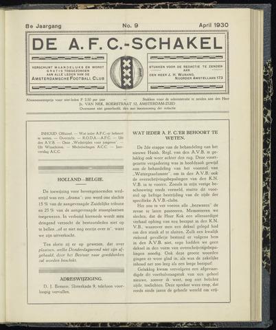 Schakels (clubbladen) 1930-04-01