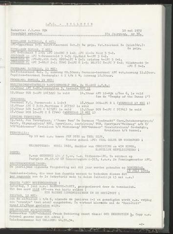 Bulletins (vnl. opstellingen) 1972-05-10