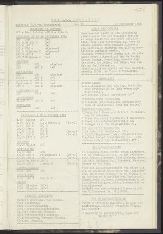 Bulletins (vnl. opstellingen) 1952-09-30