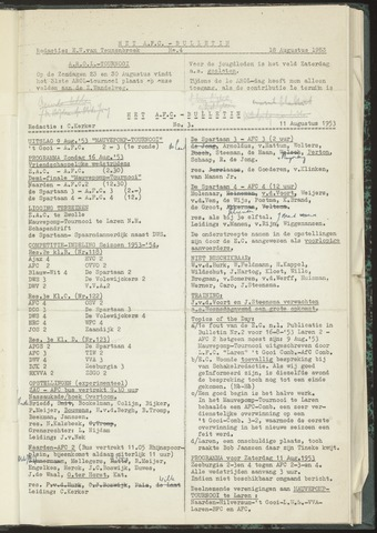 Bulletins (vnl. opstellingen) 1953-08-11