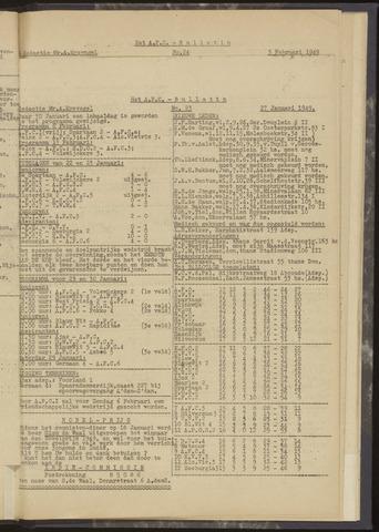 Bulletins (vnl. opstellingen) 1949-01-27