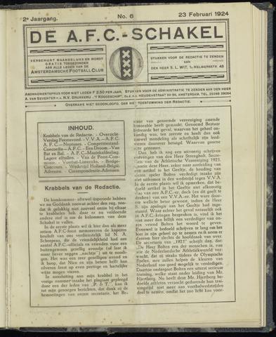 Schakels (clubbladen) 1924-02-23