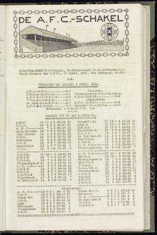 Schakels (clubbladen) 1941-04-10