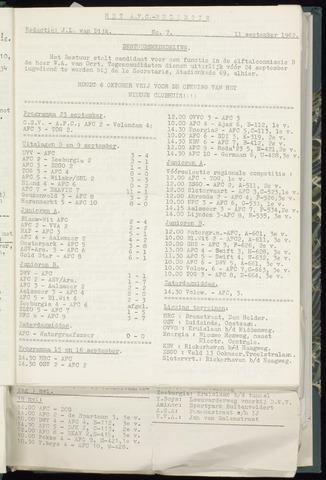 Bulletins (vnl. opstellingen) 1962-09-05