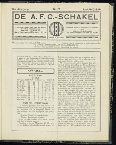 Schakels (clubbladen) 1936-04-01