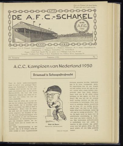 Schakels (clubbladen) 1950-08-01