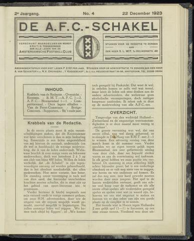 Schakels (clubbladen) 1923-12-22