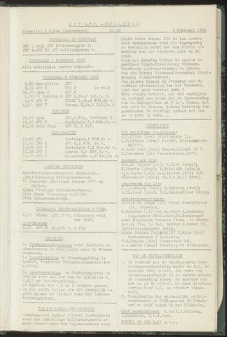 Bulletins (vnl. opstellingen) 1953-02-03