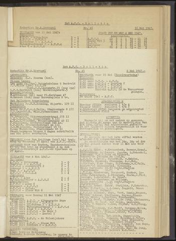 Bulletins (vnl. opstellingen) 1947-05-08