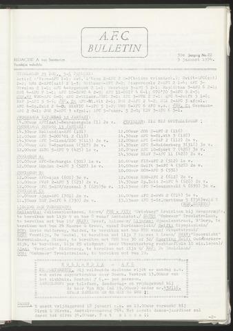 Bulletins (vnl. opstellingen) 1974-01-09