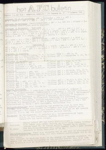 Bulletins (vnl. opstellingen) 1964-11-18
