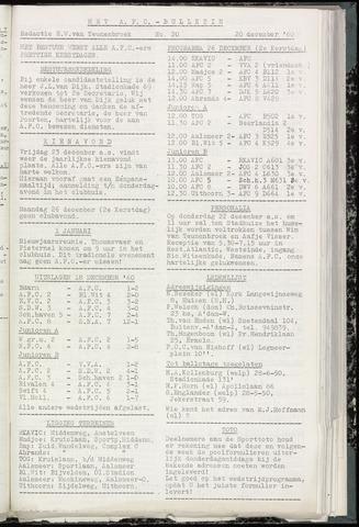 Bulletins (vnl. opstellingen) 1960-12-20